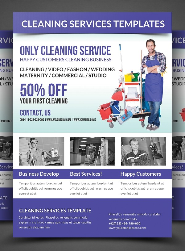 flyer template cleaning companies flyers  20+ Cleaning Flyers - PSD, AI, EPS Download - flyer template cleaning companies flyers