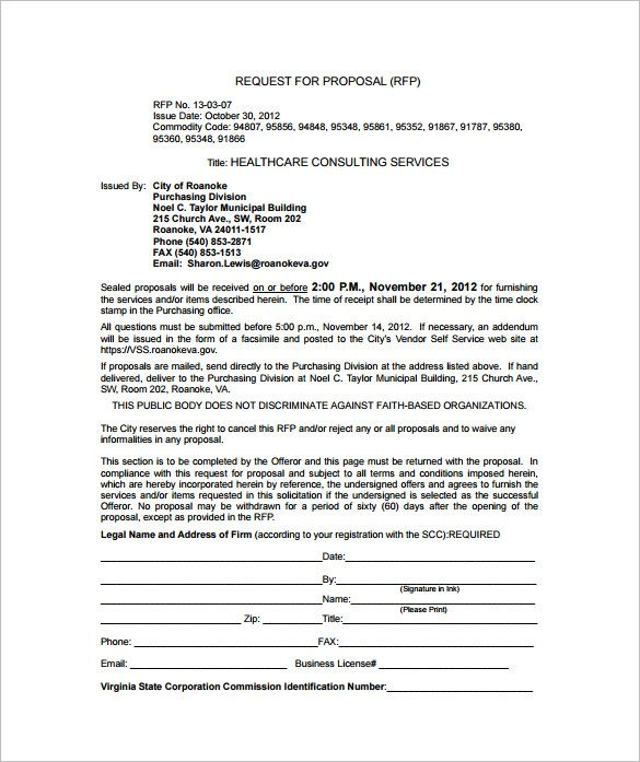 health care proposal template  20+ Consulting Proposal Templates - Word, PDF, Google Docs ..