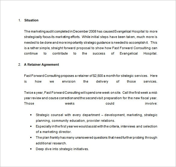 monthly retainer proposal template  20+ Consulting Proposal Templates - Word, PDF, Google Docs ..