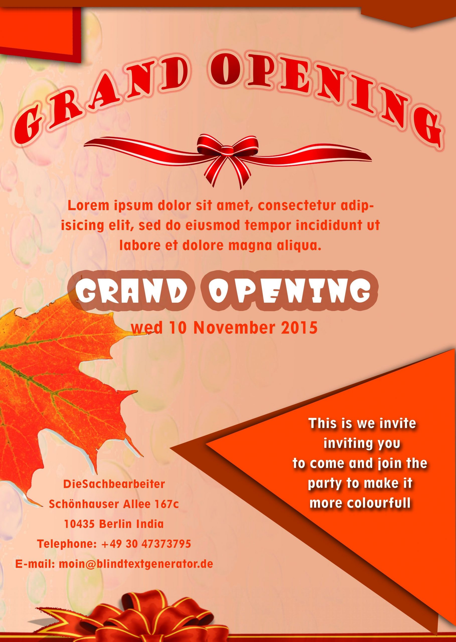 grand opening flyer template  20 Grand Opening Flyer Templates Free - Demplates - grand opening flyer template