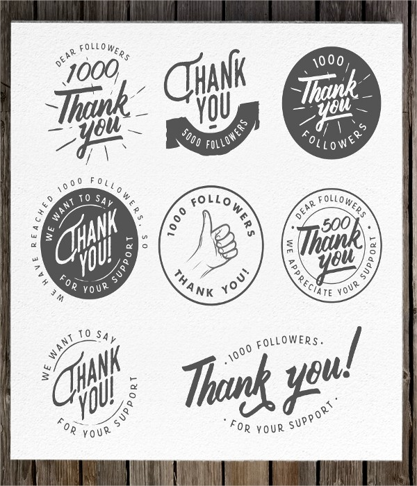 thank you labels template  20+ Label Template - PSD, Vector EPS - thank you labels template