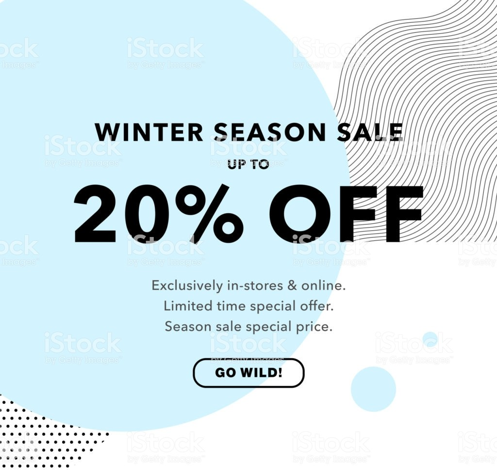 20 off flyer template  20 Off Price Discount Winter Season Sale Promo Banner 20 ..