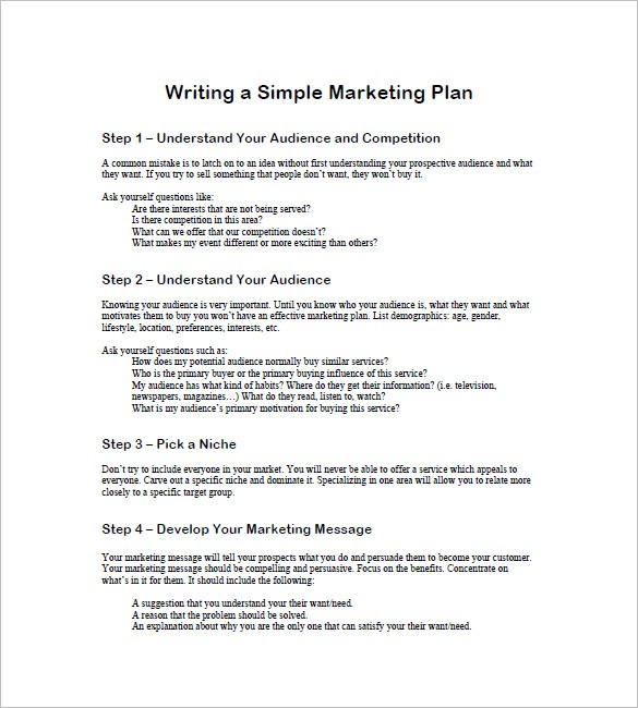 simple marketing proposal template  22+ Simple Marketing Plan Templates - DOC, PDF   Free ..