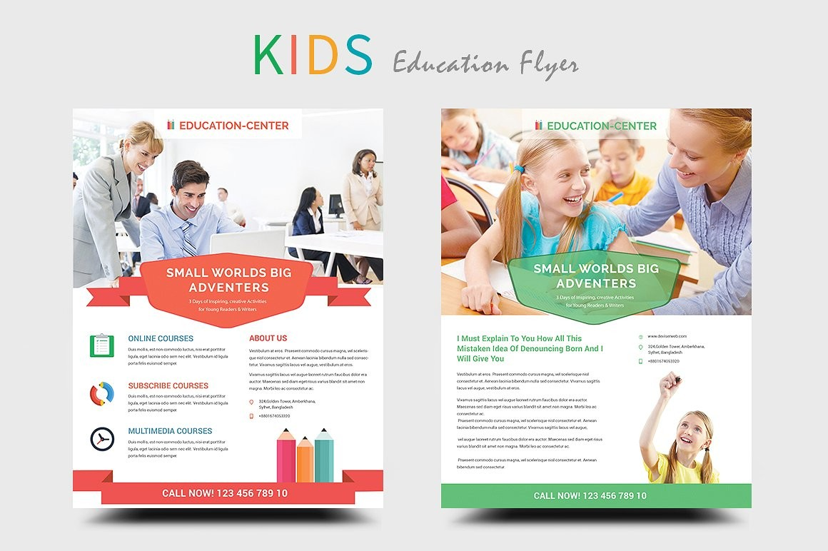 flyer template education  24+ School Flyers Templates - AI, Pages, PSD, Word ..