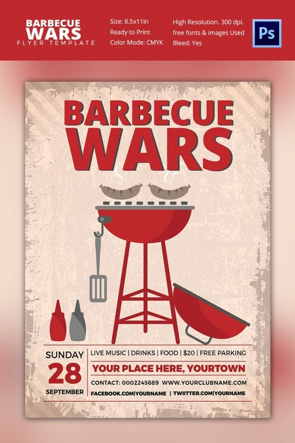 bbq flyer template  25+ BBQ Flyer Template - Free Word, PDF, PSD, EPS ..