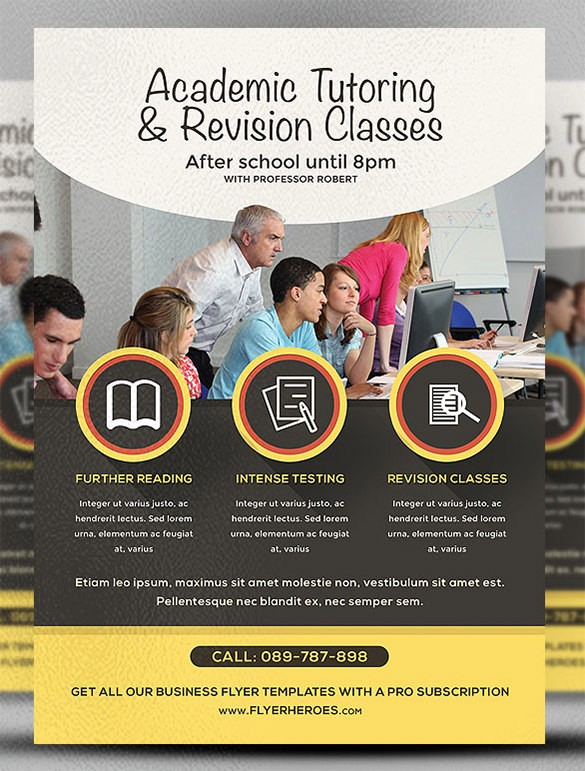 university flyer template free  25+ Best Academic Flyer Templates & Designs - Word, PSD ..