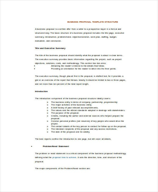 business proposal template word doc  25+ Sample Business Proposal Templates in Word   Free ..