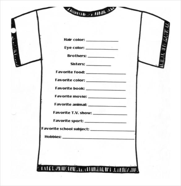 t shirt proposal template  26+ T-Shirt Order Form Templates - PDF, DOC | Free ..