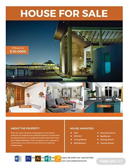 real estate flyer template free  27+ FREE Real Estate Flyer Templates - Word | PSD ..