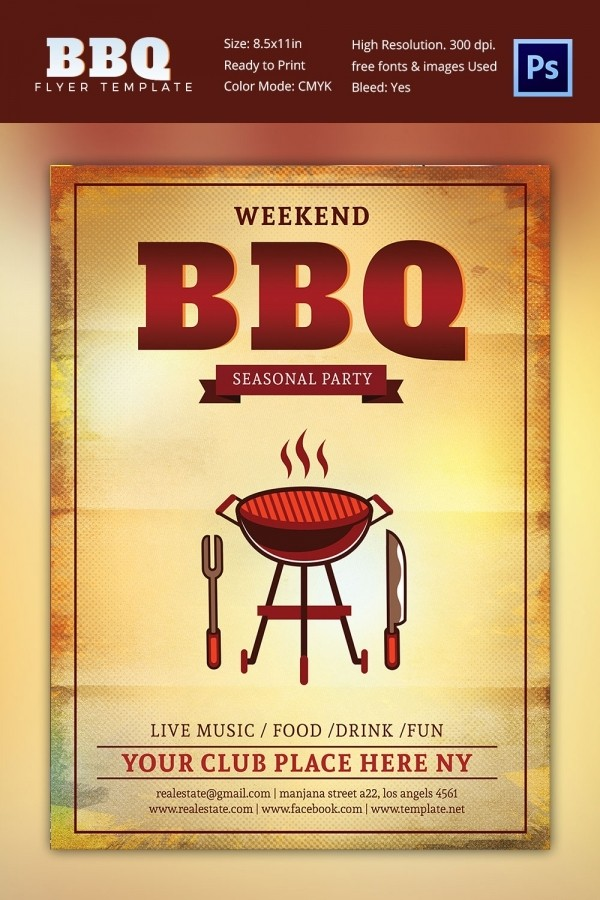 bbq flyer template  28+ BBQ Flyer Templates - Free Word, PDF, PSD, EPS ..
