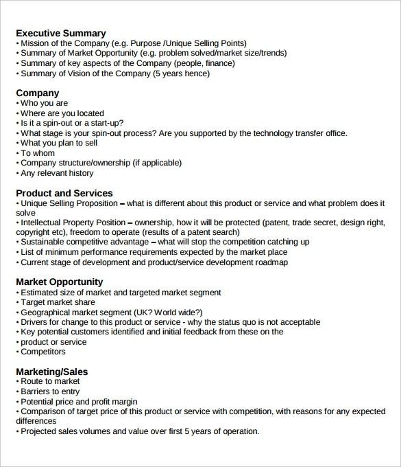 business plan template executive summary example  31+ Executive Summary Templates - Free Sample, Example ..