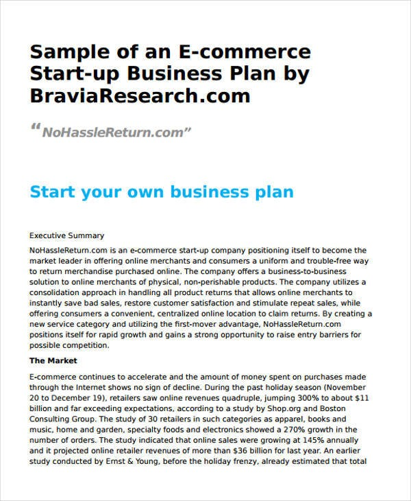 ecommerce business plan template doc  32+ Business Plan Templates - Google Docs, Word, Apple Pages - ecommerce business plan template doc