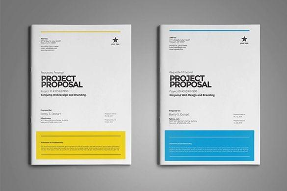 proposal template design free  38+ Free Proposal Templates - Word | Word template design ..
