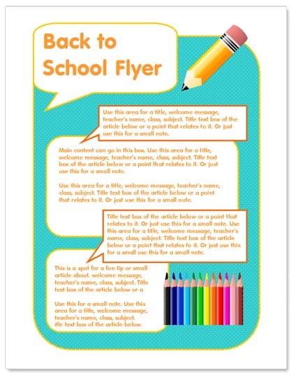 flyer templates word  40 Free Word Flyer Templates - Publisher PDF - flyer templates word