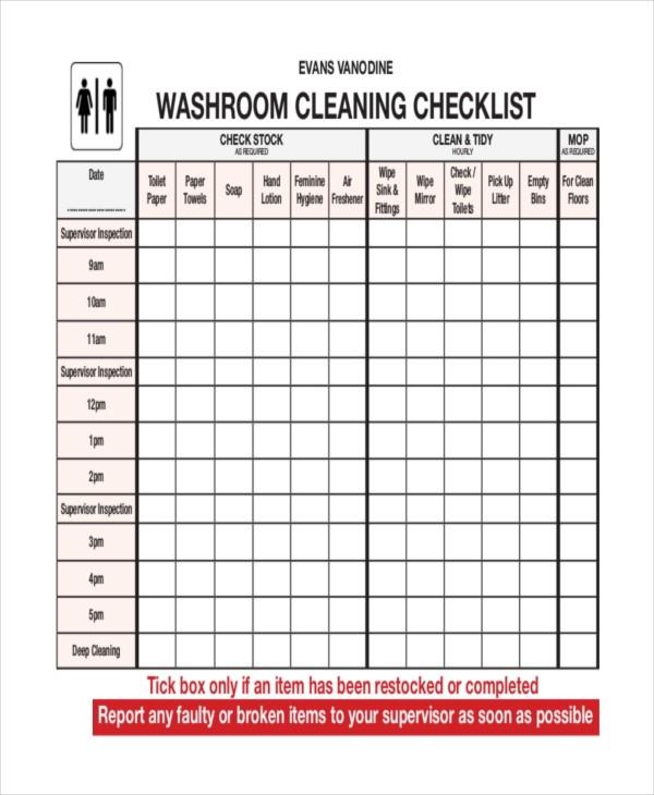 bathroom checklist template  41+ Checklist Templates | Free & Premium Templates - bathroom checklist template