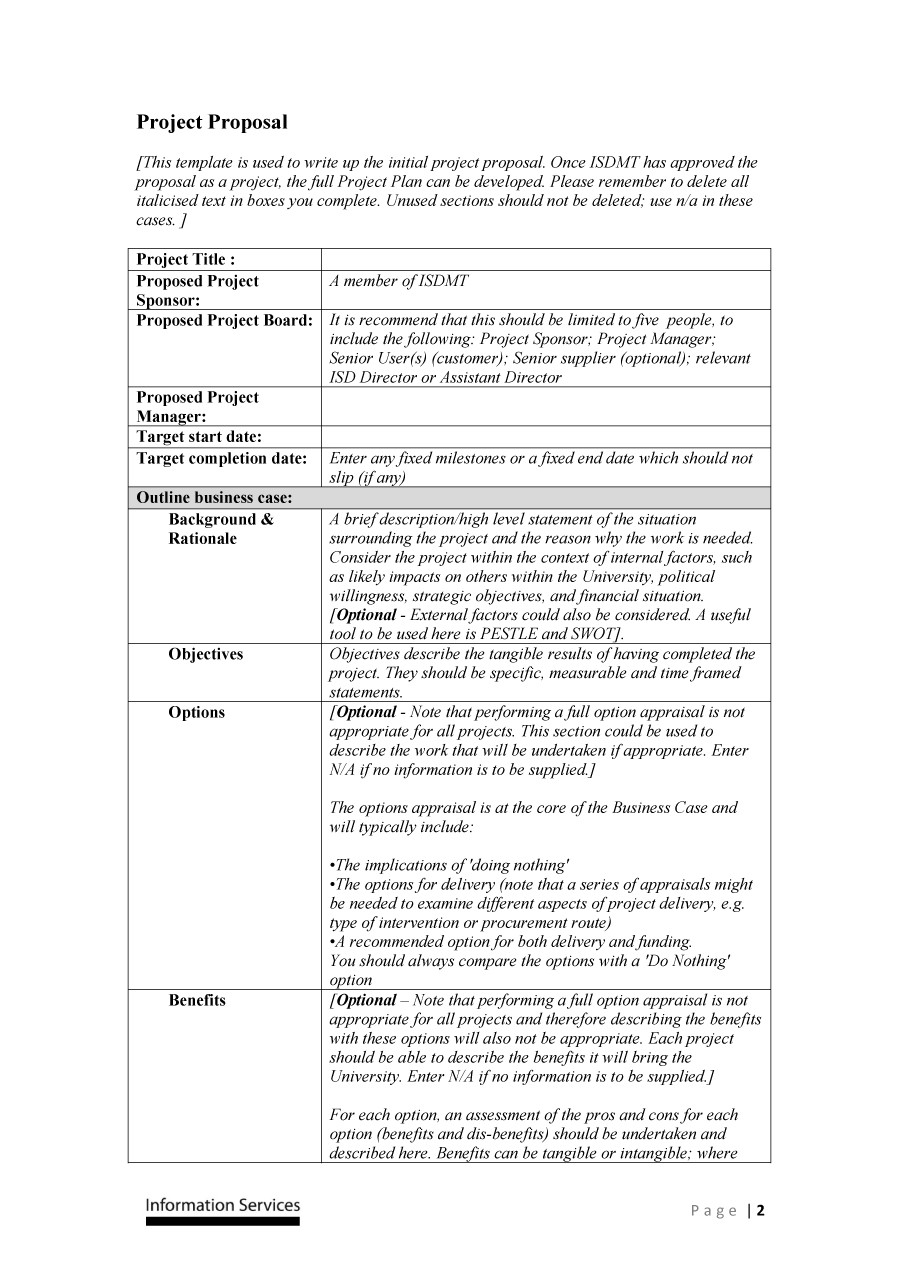 proposal template example proposal document  43 Professional Project Proposal Templates ᐅ TemplateLab - proposal template example proposal document