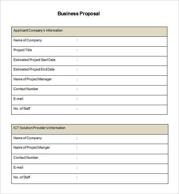business proposal template word doc  45+ Business Proposal Templates - DOC, PDF   Free ..
