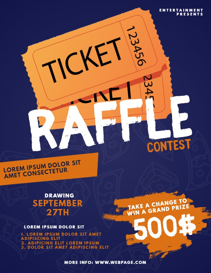 raffle flyer template  5 Ways to Market your Raffle with Minimal Costs | Design ..