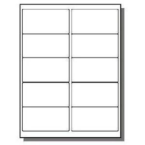 """labels template 2 x 4  5000 Premium Laser Inkjet Labels 2 x 4"""" 10 per Page Uses .."""