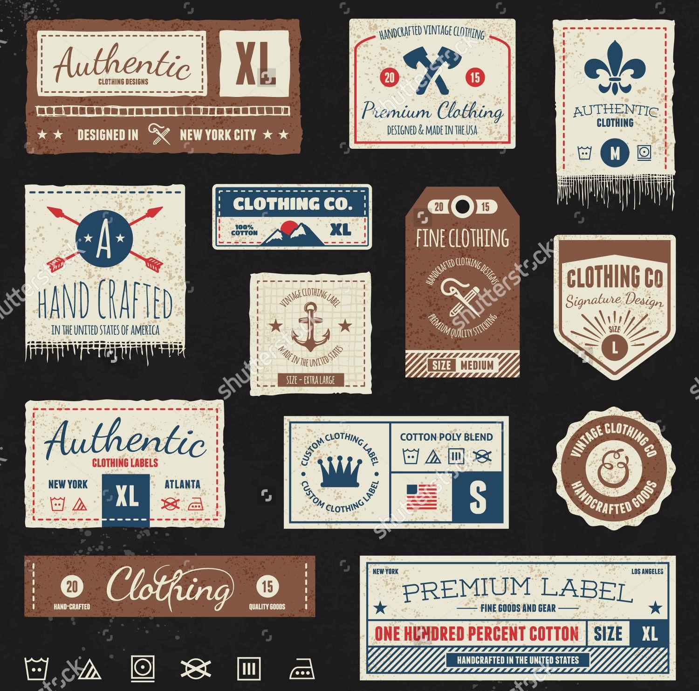 clothing labels template  53+ Label Design Templates | Design Trends - Premium PSD ..