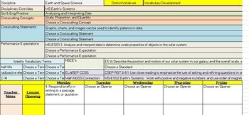 lesson plan template 6th grade  6th Grade Science Lesson Plan Template with NGSS, CCSS ..