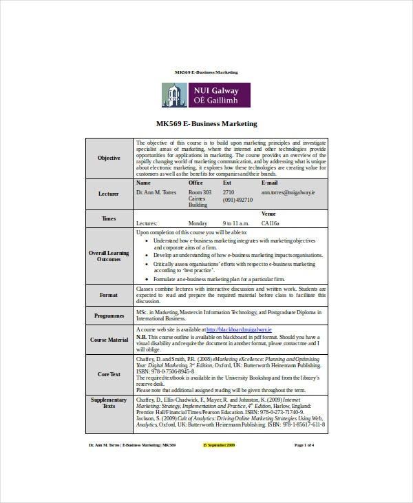 ecommerce business plan template doc  7+ E-commerce Marketing Plan Templates - PDF, Docs, Word ..
