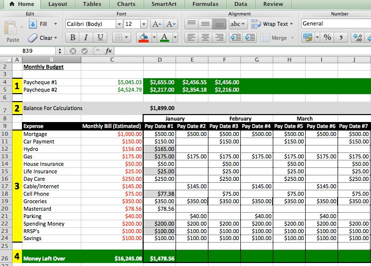 budget template xlsx  7 Reasons Why Your Finances Are A Mess - JiJi