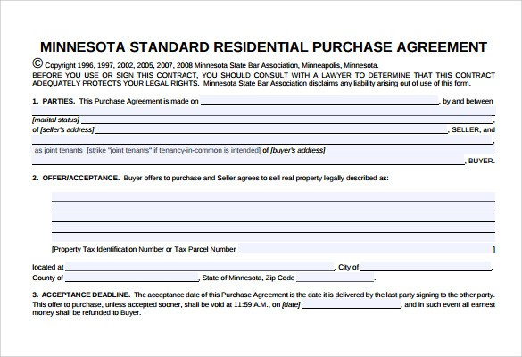 contract template alberta  7+ Sample Home Purchase Agreements | Sample Templates - contract template alberta