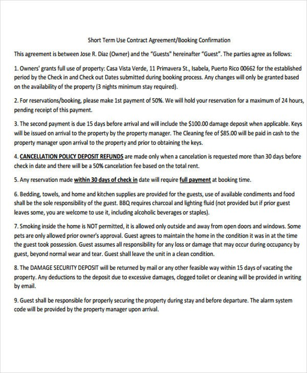 business contract template  8+ Confirmation Agreement Templates - Free Sample, Example ..