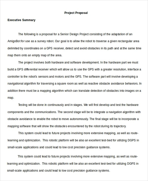 proposal template executive summary  9+ Executive Summary Examples - Word, PDF | Free & Premium ..