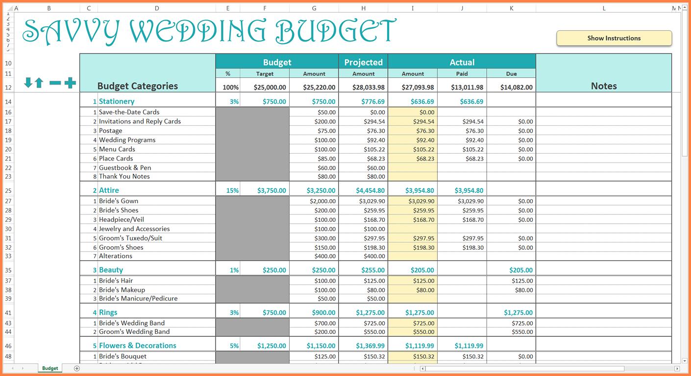 excel budget template uk  9+ wedding budget excel spreadsheet | Excel Spreadsheets Group - excel budget template uk