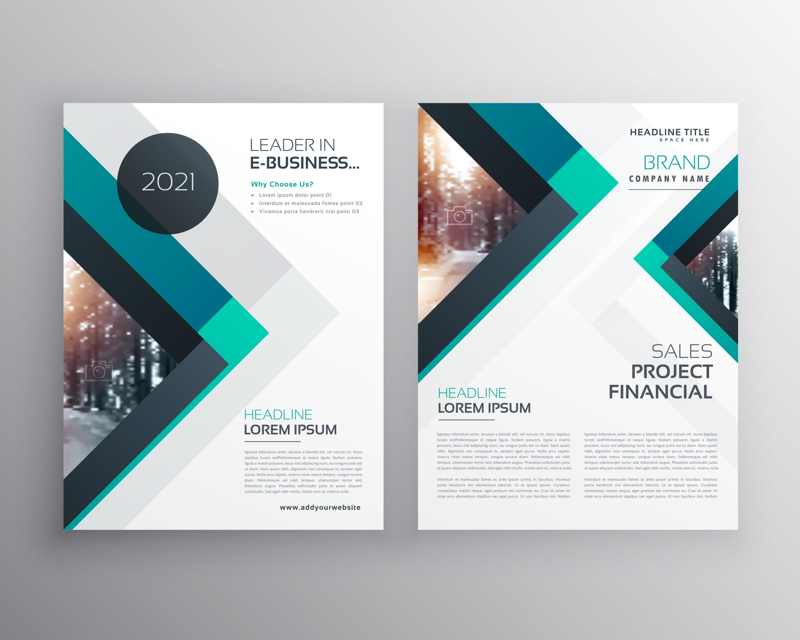 flyer template design  abstract blue business brochure flyer design template with ..