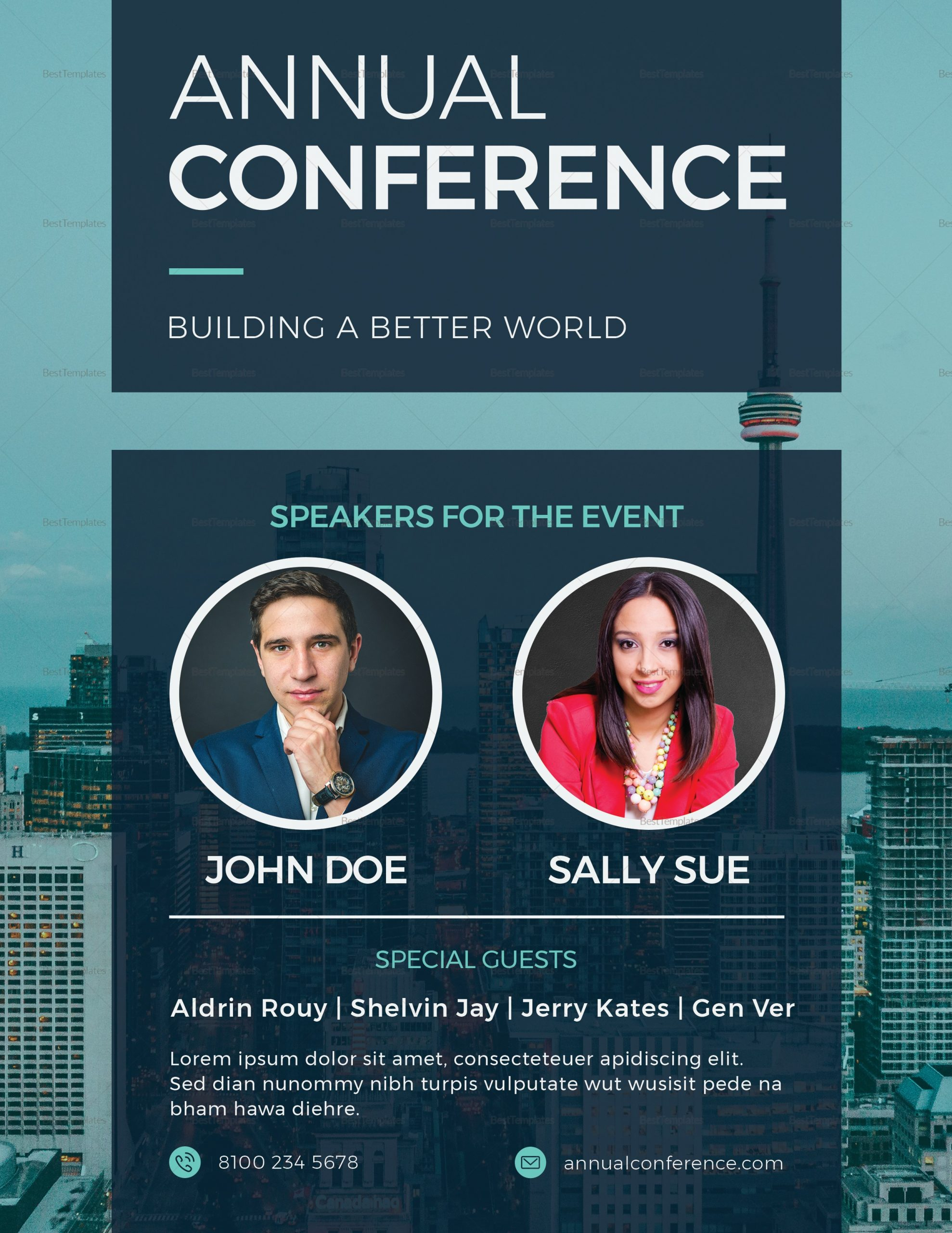 conference flyer template  Annual Conference Flyer Design Template in PSD, Word ..