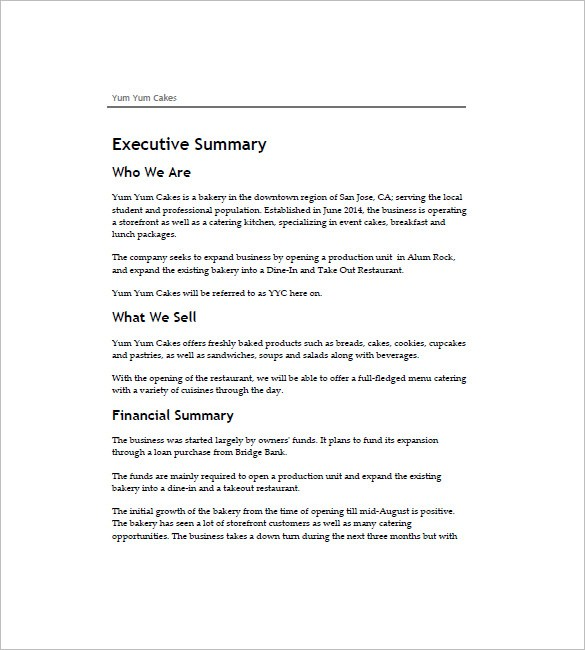 bakery business plan template  Bakery Business Plan Template - 19+ Word, Excel, PDF ..