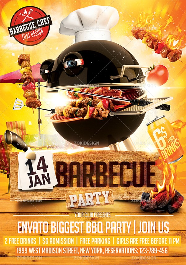 bbq flyer template  Barbecue Party Flyer Template on Behance - bbq flyer template