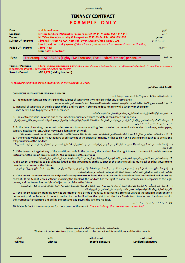 tenancy contract template dubai  Before signing a Tenancy Contract - Dubai Survival Guide - tenancy contract template dubai