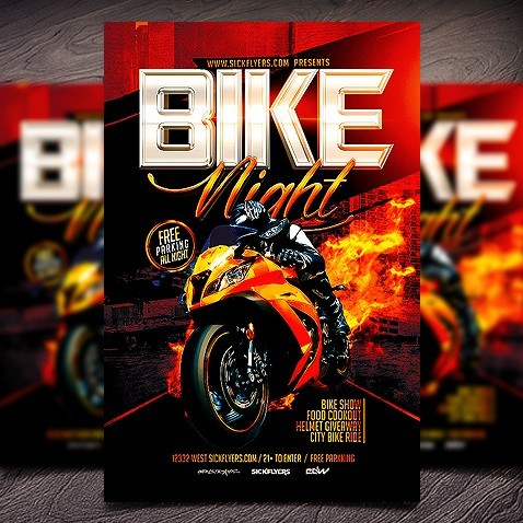 bike night flyer template free  Bike Night Flyer Template - bike night flyer template free