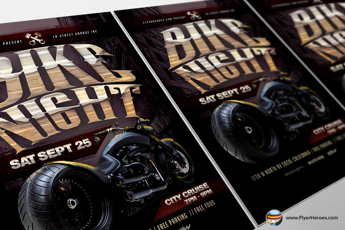bike night flyer template free  Bike Night Flyer Template on Behance - bike night flyer template free