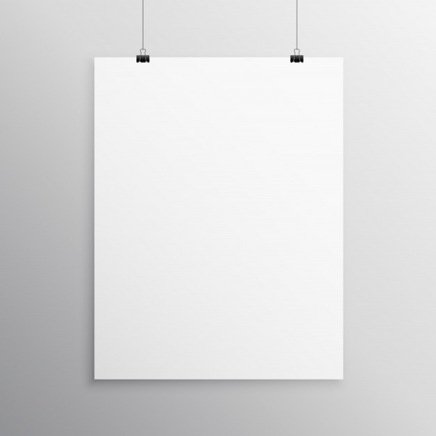 flyer templates blank  Blank flyer mockup template hanging with clip Vector ..
