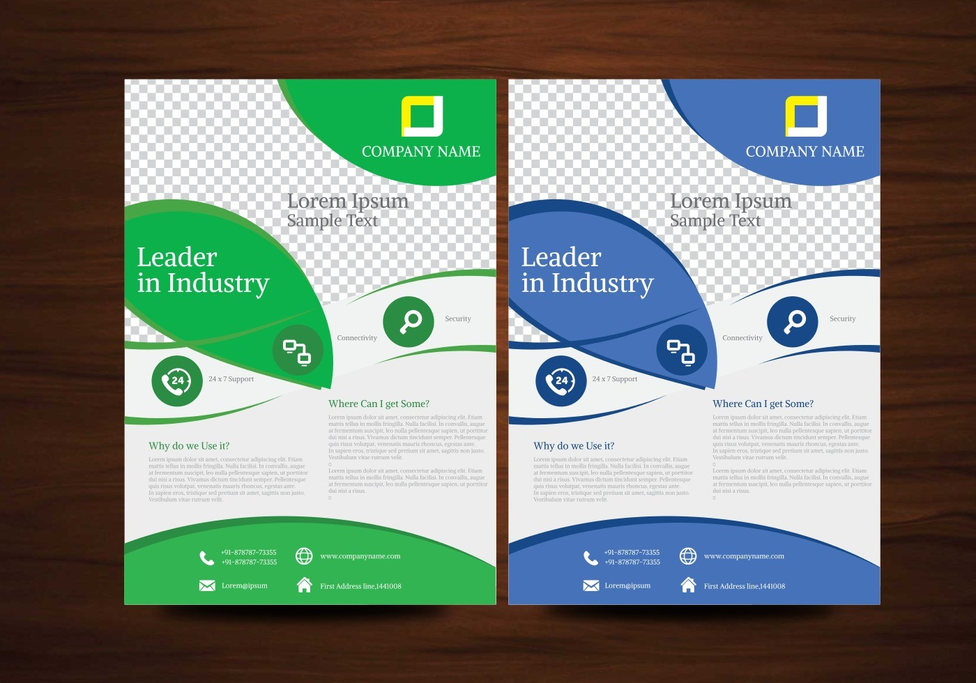 flyer template design  Blue and Green Vector Brochure Flyer Design Template ..