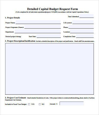 budget request form template  Budget Forms - 9+ Free PDF Documents Download | Free ..