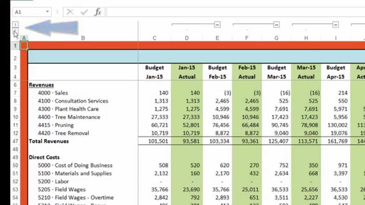 budget vs actual template  Budget vs Actual - YouTube - budget vs actual template