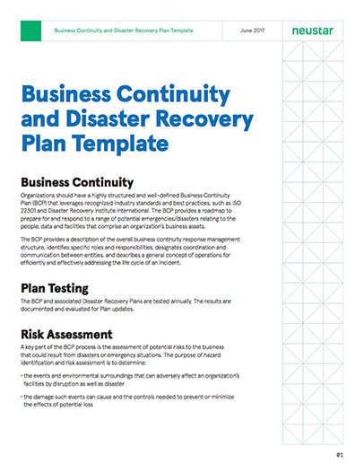 business recovery plan template  Business Continuity & Disaster Recovery Plan Template ..