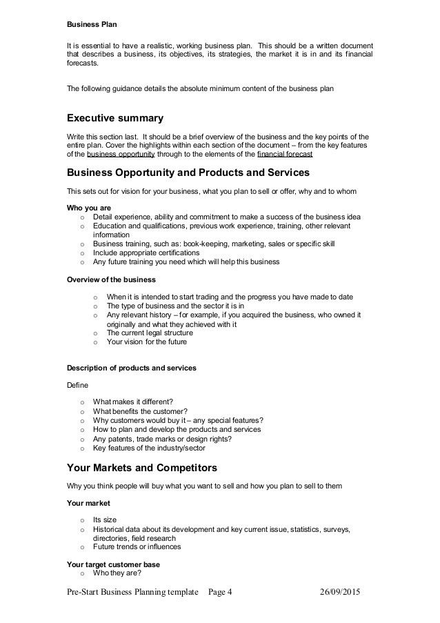 business plan guide template  Business plan guide e format to use with Inspiro Buiness ..