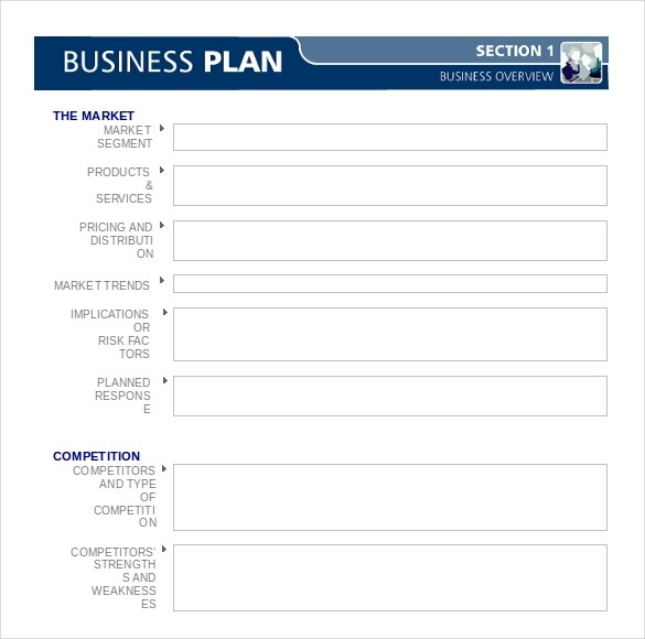 blank business plan template word  Business Plan Template - 47+ Examples in Word   Free ..