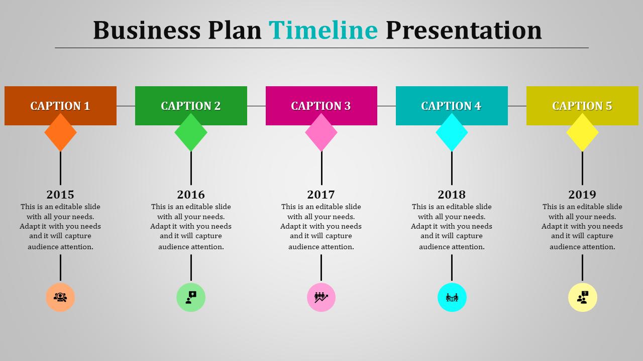 business plan timeline template  Business Plan Timeline Template - Linear Model- SlideEgg - business plan timeline template