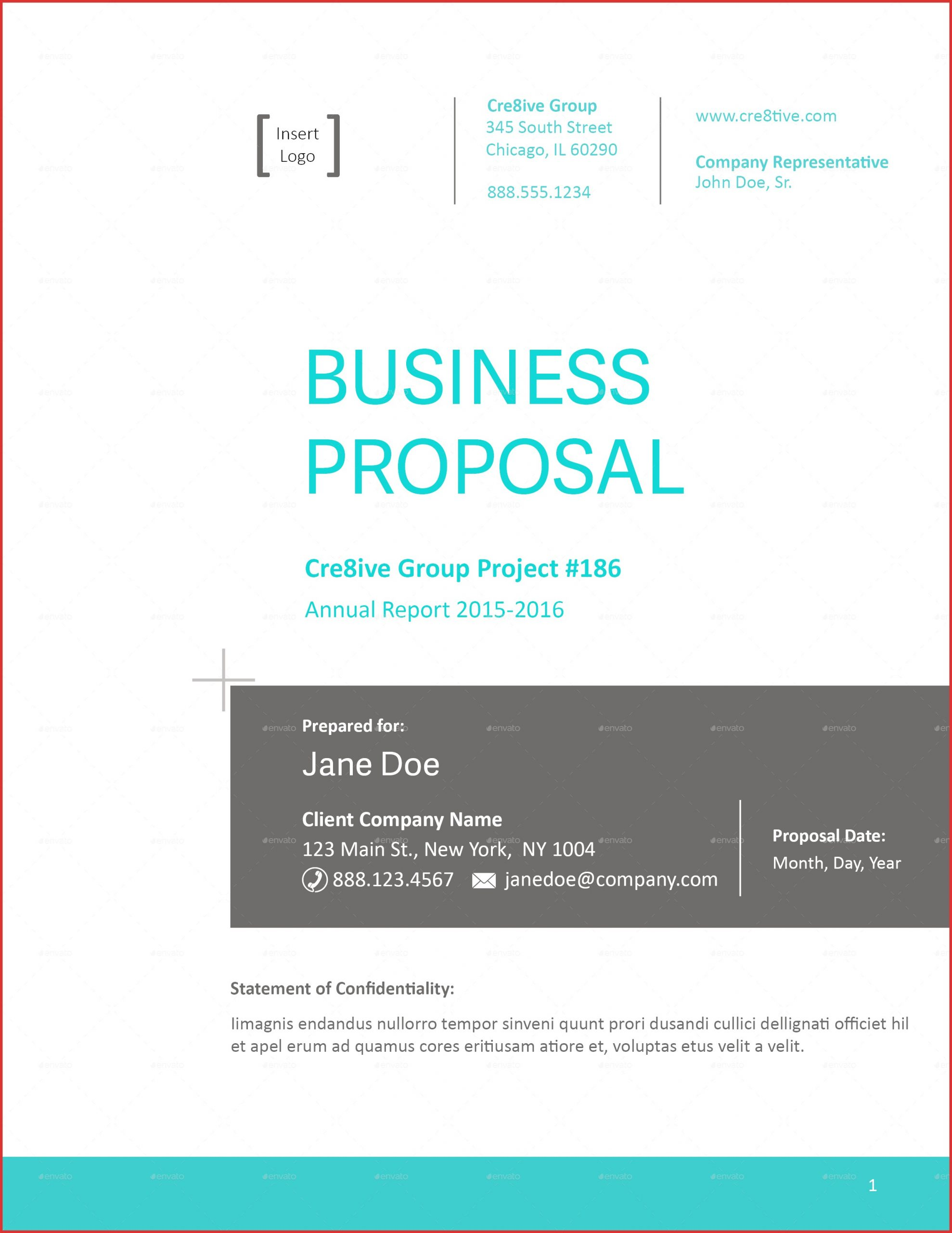 proposal template cover page  Business Proposal Cover | scrumps - proposal template cover page