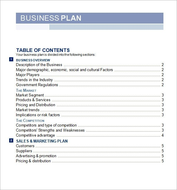 business plan template pdf free download  Bussines Plan Template - 17+ Download Free Documents in ..