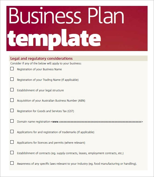 business plan template pdf  Bussines Plan Template - 17+ Download Free Documents in ..