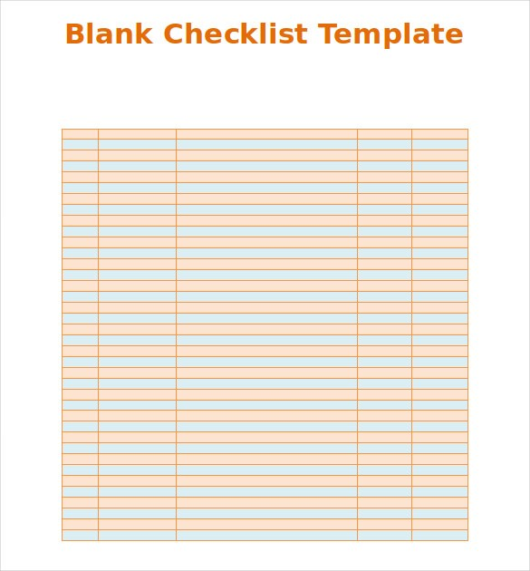 checklist template blank  Checklist Template Word - FREE DOWNLOAD - The Best Home ..